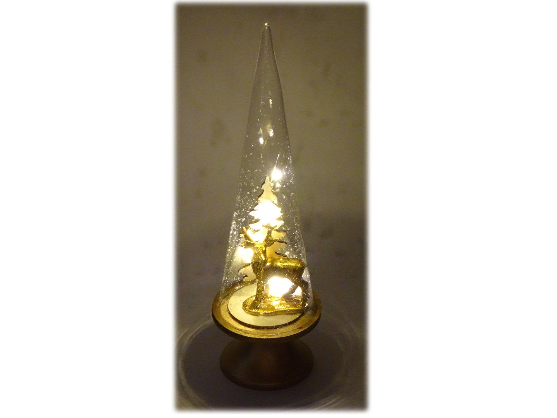 Hirsch in glas mit led lichterkette gr e 8 x 28 cm for Weihnachtsdeko im glas mit lichterkette