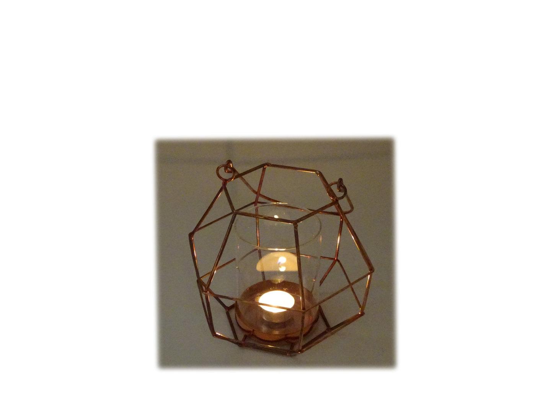 windlicht aus metall rot mit glas gr e 18 x 18 x 19 cm. Black Bedroom Furniture Sets. Home Design Ideas