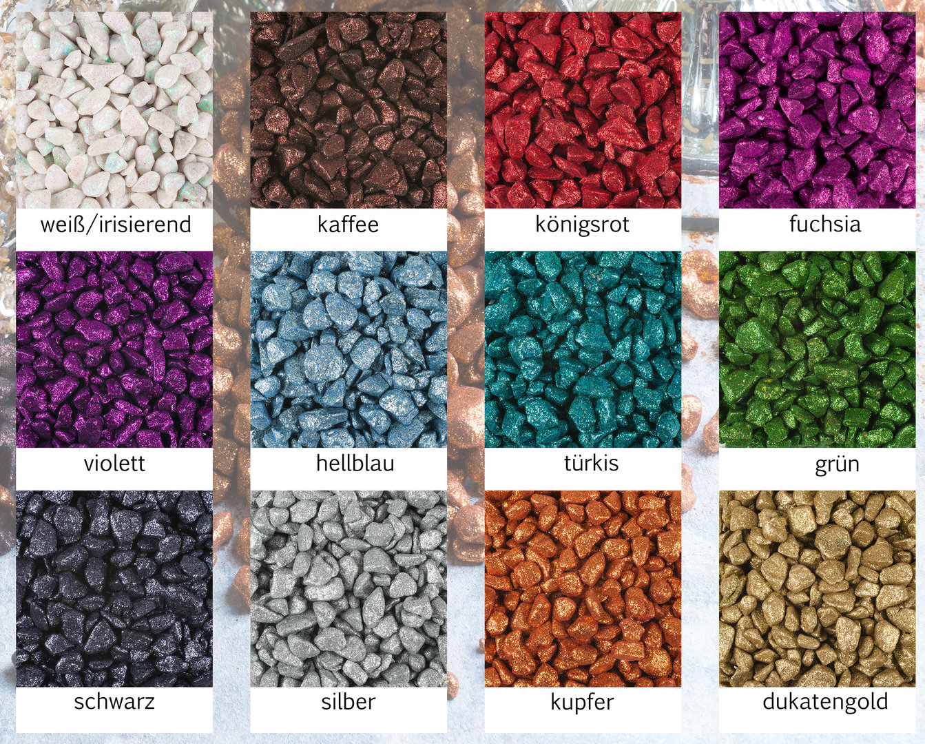 1 kg Brilliant Granulat Dekogranulat Granulat Farbgranulat Farbsand Dekosand